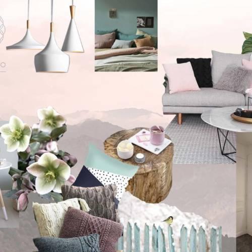 renovation et décoration d'un appartement cosy de 70m2 par Etymodéco, Décoratrice à Saint Louis en Alsace : planche ambiance salon