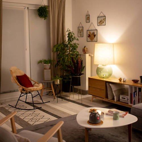 Un intérieur Cocon et Ressourçant par Etymodeco, Décoratrice d'intérieur et Expert Feng Shui à Saint Louis et Mulhouse : vue avec l'éclairage