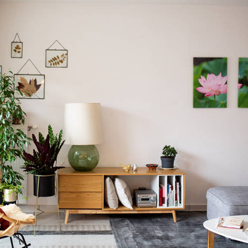 Un intérieur Cocon et Ressourçant par Etymodeco, Décoratrice d'intérieur et Expert Feng Shui à Saint Louis et Mulhouse : Un coin salon nature